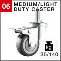 Medium/light duty caster