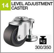 Level adjustment caster