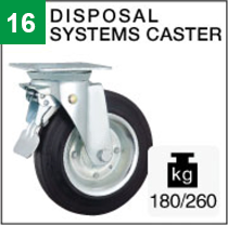 Disposal systems caster
